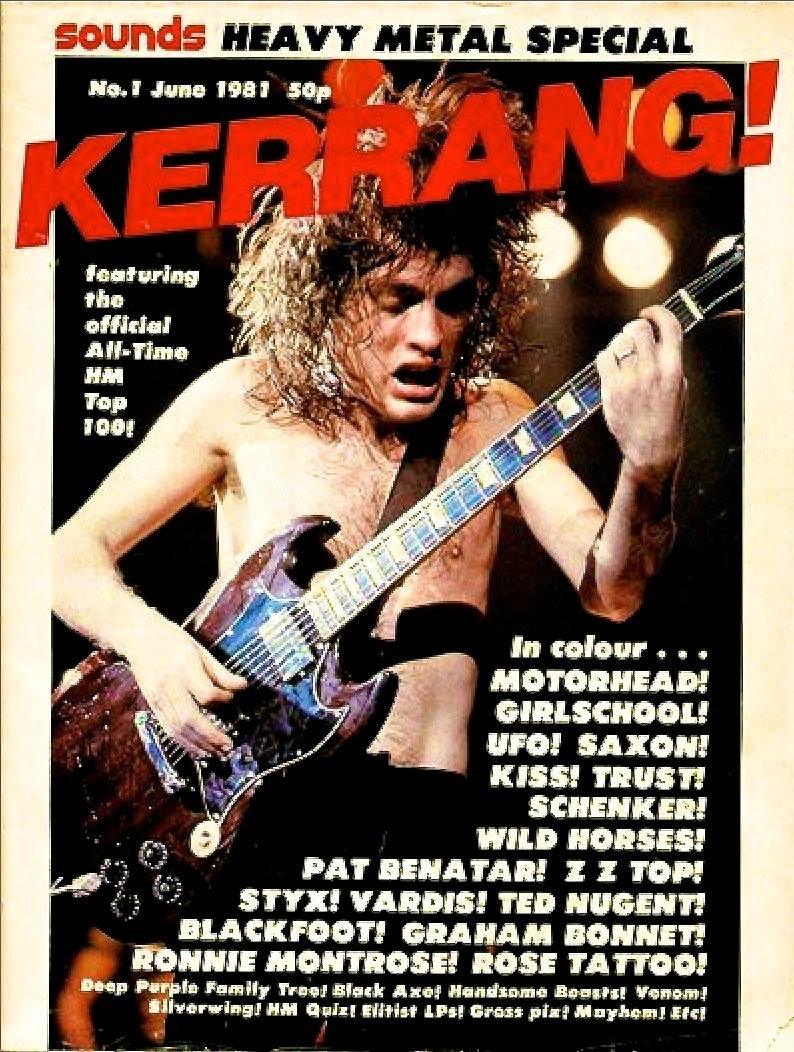AC/DC was the first band on the cover of Kerrang!, which printed its first issue on this day in 1981!